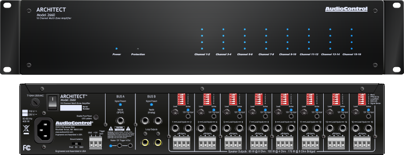 Audiocontrol Launches New Architect Multi Room Amplifier The Architect Model 2660 Audiocontrol