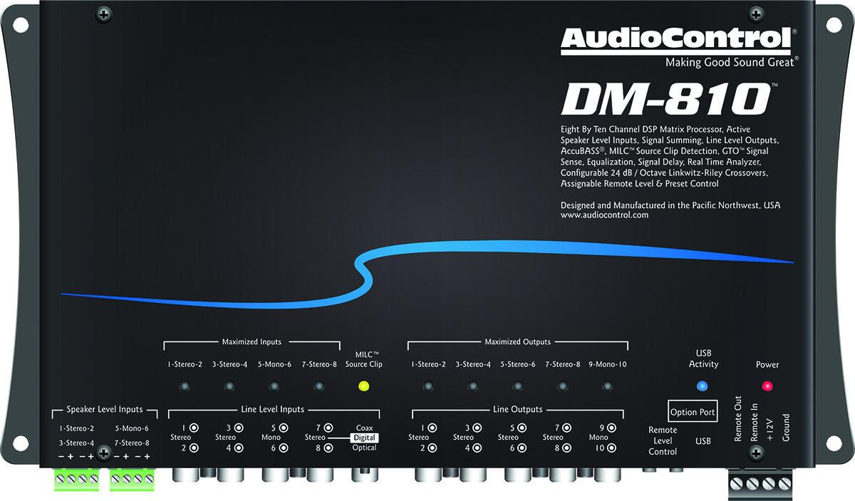 audiocontrol announces new dsp matrix processors full. Black Bedroom Furniture Sets. Home Design Ideas