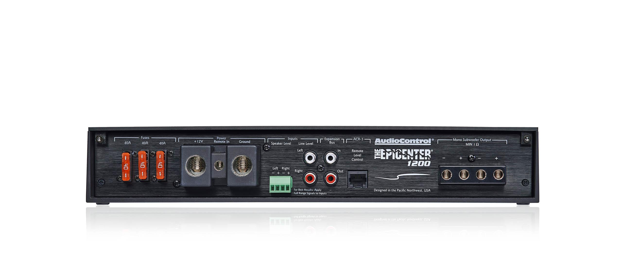 The Epicenter 1200 Audiocontrol 4 Channel Speaker Wiring Diagram Epic 400 Watts Full Range