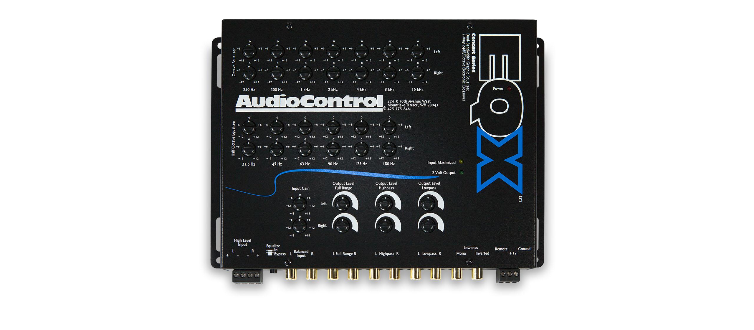 AudioControl EQX Car Stereo 2Channel Equalizer Crossover EQ Audio Control New